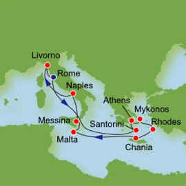 Greek Isles and Italy Itinerary