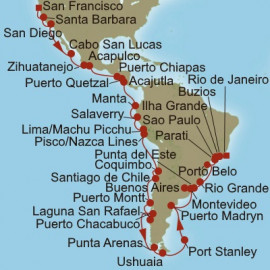 Allure of the Americas Itinerary