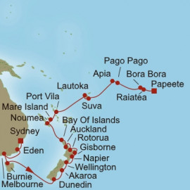 Tasman and Pacific Pearls Itinerary