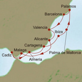 Spanish Silhouettes Itinerary