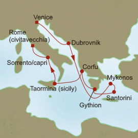 Greek and Italian Gems Itinerary