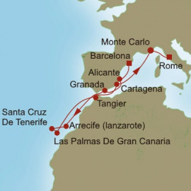 Canaries and Cathedral Itinerary