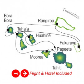 Fly Stay and Society Islands and Tuamotus Itinerary