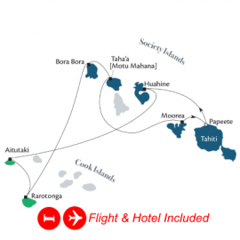 Fly Hotel Cruise Holdiay Cook and Society Islands Paul Gauguin Luxury Cruise Australia Cruise