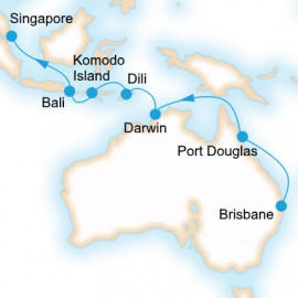 Brisbane to Singapore P&O Cruises Cruise