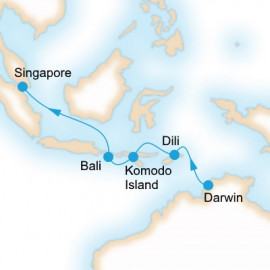 Darwin to Singapore Itinerary