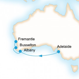 Adelaide to Fremantle  Itinerary