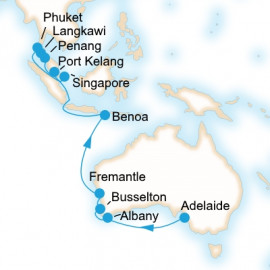 Adelaide to Singapore Itinerary