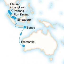 Fremantle to Singapore P&O Cruises Cruise