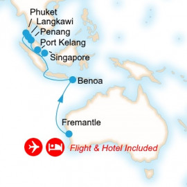Fly Cruise Holiday Farewell to Pacific Eden Itinerary
