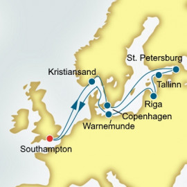 Scandinavia Estonia and Russia P&O Cruises UK Cruise