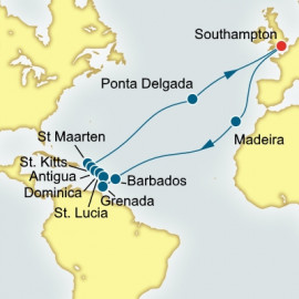 Madeira Caribbean and Azores Itinerary