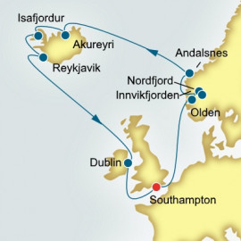 Norwegian Fjords Iceland and Ireland Itinerary