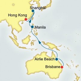Brisbane to Hong Kong World Sector Cruise