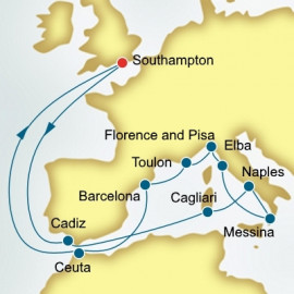 Spain Italy and France  P&O Cruises UK Cruise