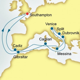 Spain Italy and Croatia  P&O Cruises UK Cruise