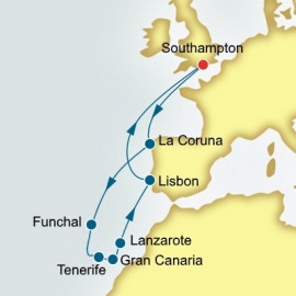 Spain Canary Islands and Portugal  P&O Cruises UK Cruise