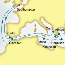 Spain Malta and Greece  P&O Cruises UK Cruise