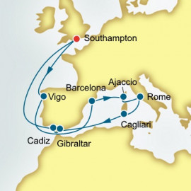 Spain France and Italy P&O Cruises UK Cruise