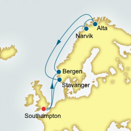 Norway and Northern Lights P&O Cruises UK Cruise