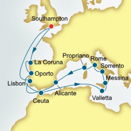Spain Portugal and Italy  P&O Cruises UK Cruise