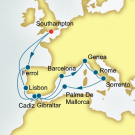 Spain Italy and Portugal P&O Cruises UK Cruise