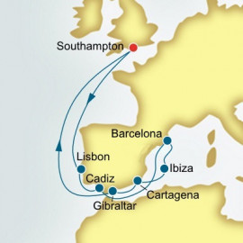Portugal and Spain P&O Cruises UK Cruise