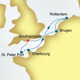 The Netherlands and Belgium and Guernsey P&O Cruises UK Cruise