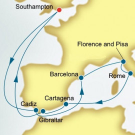 Spain and Italy P&O Cruises UK Cruise
