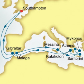 Spain and Sicily and Greece  P&O Cruises UK Cruise