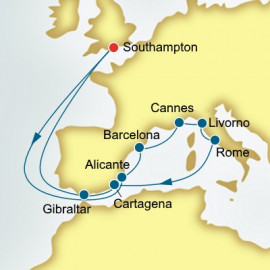 Spain and France and Italy P&O Cruises UK Cruise