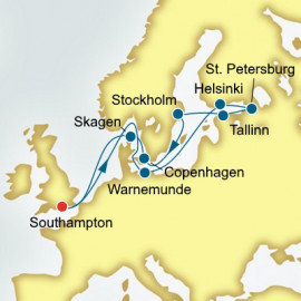 Scandinavia and Russia P&O Cruises UK Cruise