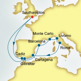 Spain and Monaco and Italy P&O Cruises UK Cruise