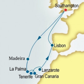 Canary Islands and Portugal P&O Cruises UK Cruise