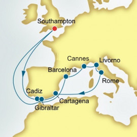 Round trip from Southampton over 14 nights on Britannia P&O Cruises UK Cruise