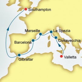 Italy France and Spain P&O Cruises UK Cruise