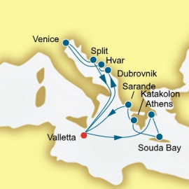 Croatia Malta and Greece  P&O Cruises UK Cruise