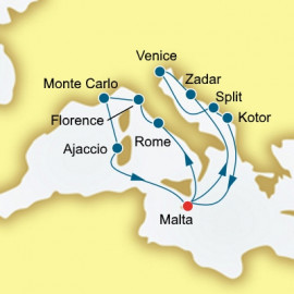 Italy Monaco and Croatia  Itinerary