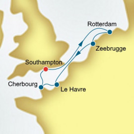 The Netherlands Belgium and France P&O Cruises UK Cruise