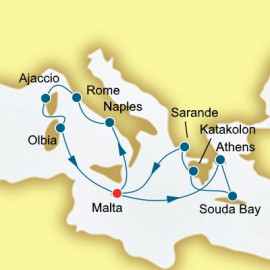Greece Malta and Italy  Itinerary