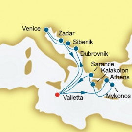 Croatia Italy and Greece  Itinerary
