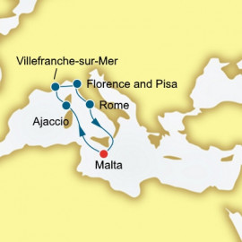 Corsica France and Italy  P&O Cruises UK Cruise