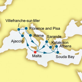 France Italy and Greece  P&O Cruises UK Cruise