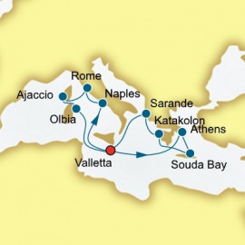 Italy Corsica and Greece  Itinerary