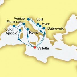 Croatia Italy and France  P&O Cruises UK Cruise