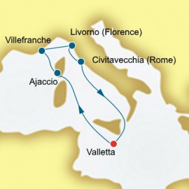 France and Italy P&O Cruises UK Cruise