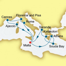 Italy France and Greece Itinerary