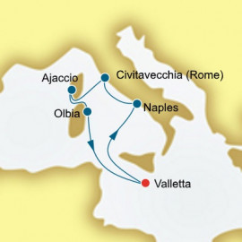 Italy and Corsica Itinerary