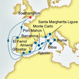Spain Italy and Monaco P&O Cruises UK Cruise