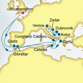 Italy Croatia and Greece P&O Cruises UK Cruise